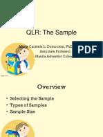 2 QLR. the Sample