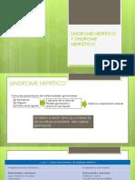 Sindrome Nefrítico y Nefrótico