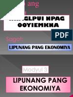 Lipunang Pang Ekonomiya