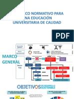 III Marco Normativo Para Una Educación Universitaria de Calidad _julio