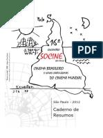 Socine 2012 - Livro de Resumos