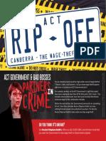 CFMEU flyer on wage theft
