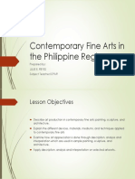 Contemporary Fine Arts in the Philippine Regions