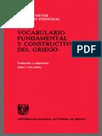 super popular 53601 0dbf2 Meyer, Thomas  Steinthal, Hermann - Vocabulario Fundamental y Constructivo  Del Griego (1993,