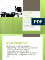 The Anti Sexual Harassment Act of 1995 for Students