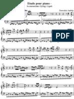 Ligeti - Etude Pour Piano