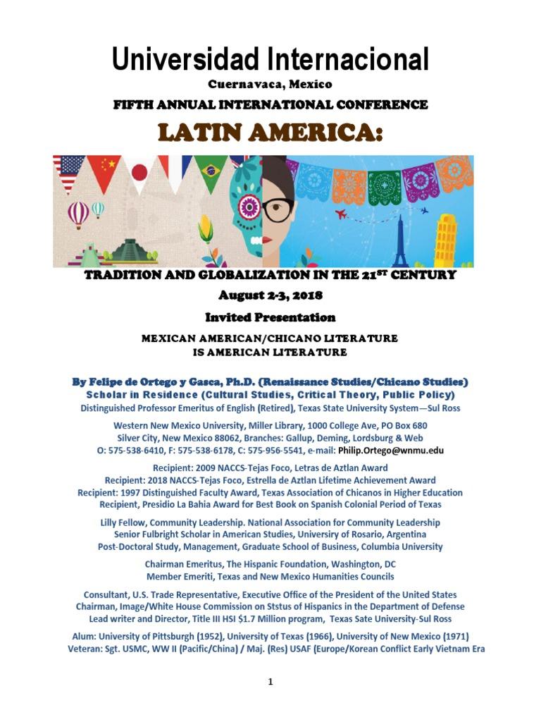 MEXICAN AMERICAN CHICANO LITERATURE IS AMERICAN LITERATURE 3031.pdf |  Chicano | Mexico