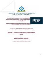Trainers Qualification Framework Report 20180611