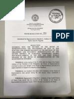 House Resolution No. 2025
