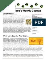 newsletter 9-27-10