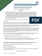 A Critical Appraisal of Integrating 4D and 5D BIM into Construction Practice