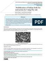 A Review on Stabilization of Indian Soils for Road Construction by Using Fly Ash