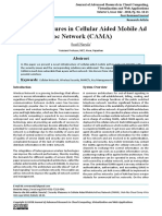 Security Measures in Cellular Aided Mobile Ad hoc Network (CAMA)