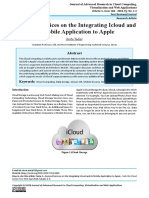 A Synced Services on the Integrating Icloud and its Mobile Application to Apple