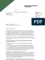 Brief KLPD aan CBP