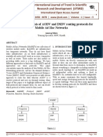 Comparative Analysis of AODV and DSDV Routing Protocols for Mobile Ad Hoc Networks