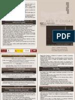 Programa del seminario Arte y Ciudad, 2015, UCM