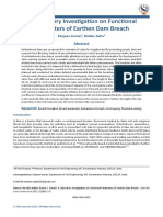 A Laboratory Investigation on Functional Parameters of Earthen Dam Breach