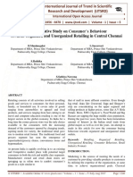 A Comparative Study on Consumer'S Behaviour towards Organized and Unorganized Retailing in Central Chennai