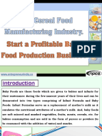 Baby Cereal Food Manufacturing Industry