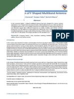 A Novel Design of F Shaped Multiband Antenna
