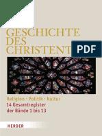 Die Geschichte des Christentums - Sonderausgabe - Bd. 14 - Gesamtregister
