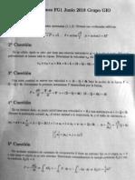 Física General 1 - Junio 2018 - Cuestiones - 1 de 2