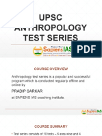 UPSC Anthropology Test Series
