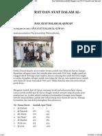 Jumlah Surat Dan Ayat Dalam Al-qur'An
