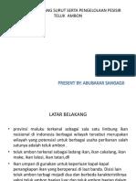 Informasi Pasang Surut Serta Pengelolaan Pesisir Teluk Ambon