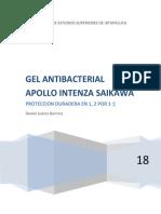 Daniel Juarez Barrera Equipo 5 Gel Antibacterial Apollo Saikawa Kanna