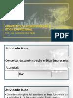 Mapa ADM e Ética