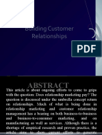 Building Customer Relationships in Crm