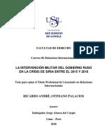 LA INTERVENCIÓN MILITAR DEL GOBIERNO RUSO EN LA CRISIS DE SIRIA ENTRE EL 2015 Y 2016 (1).pdf