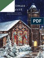Christmas Concert Program 2017