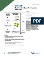 A Rapid Method for Directed Gene Knockout for Screening in G0 Zebrafish