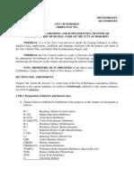 Hoboken Amended University Zone proposed Ordinance
