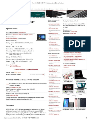 Asus UX410UQ-GV034T - Notebookcheck | Electronics | Computer Hardware