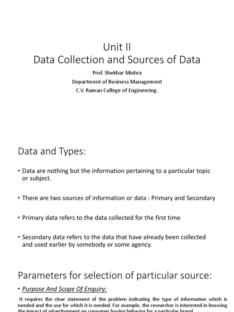 examples of primary data sources