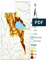 Peta Kemiringan Daerah Tangkapan Air Danau  Laukawar
