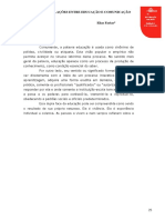 Artigo. as Inteer-relações Entre Educação e Comunicação. Elias Farias