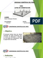 Expo Platea Cimentacion_Grupo 6_Daniel Velasquez P.