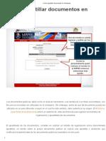 » Cómo Apostillar Documentos en Venezuela