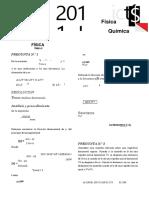 examen de admision uni fisica quimica