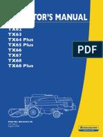 New Holland TX Operator Manual
