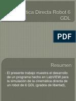 Cinemática Directa Robot 6 GDL-II