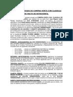 Modelo Contrato Privado de Compra-Venta Con Pacto de -Huancabamba