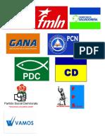 Bandera de Los Partidos Politicos de El Salvador