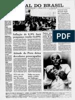 Fac Simile edição do Jornal Do Brasil 1985