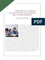 La Educacion a Lo Largo de La Vida en La Sociedad Del Conocimiento-PDF